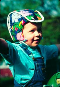 Plum's® ProtectaCap® Custom-Fitting Protective Headgear for Kids in their Favorite Kids Print